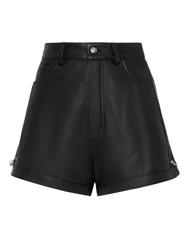 Leather Shorts Pants Pins
