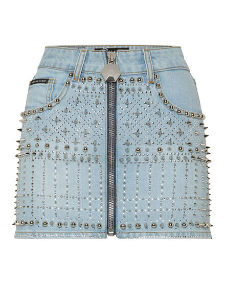Denim Skirt Gothic Plein