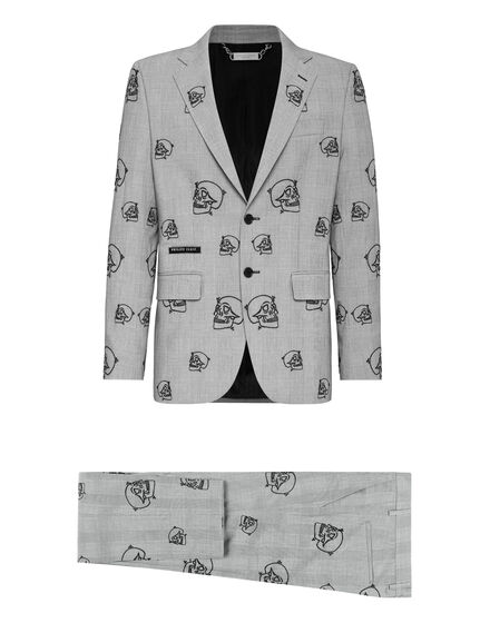 Suit 2 pcs Regular Embroidery Skull