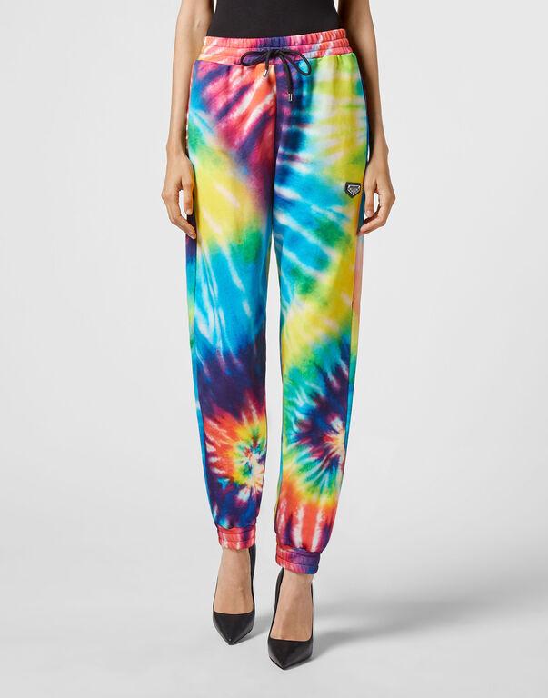 Jogging Trousers Tie Dye Crystal Chain