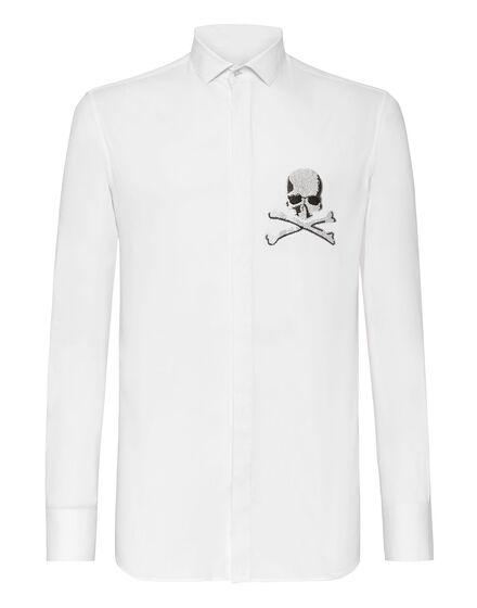 Shirt Platinum Cut LS Skull
