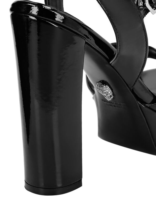 Patent leather Sandals High Heels Iconic Plein