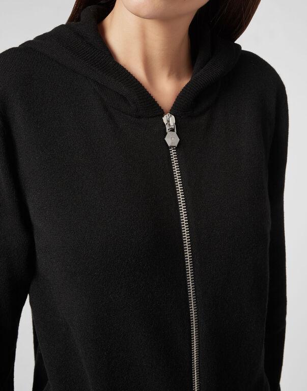 """Knit hoodie """"Sandy Smile Up"""" Skull"""