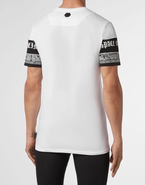 T-shirt Platinum Cut Round Neck Paisley