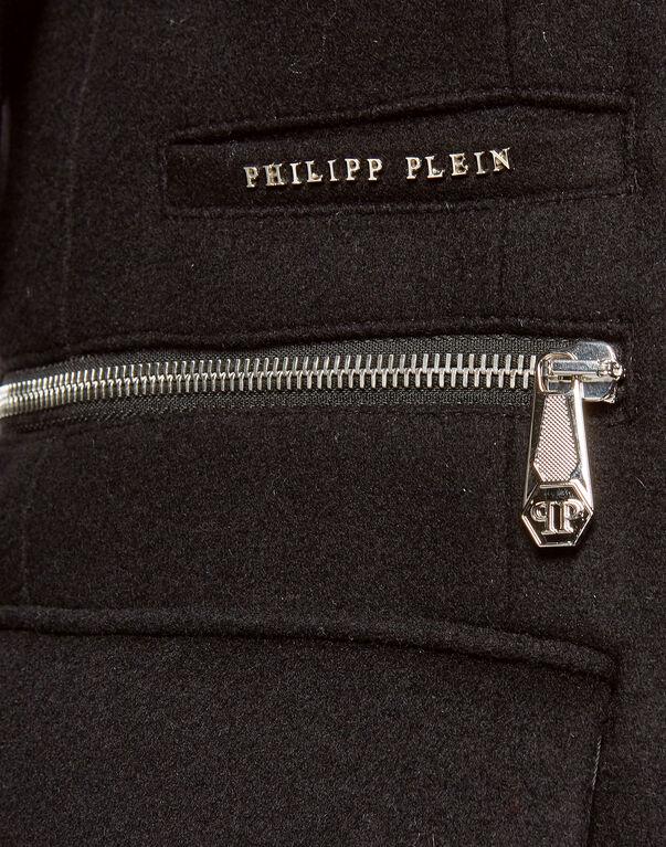 "Coat Long ""Zipped"""