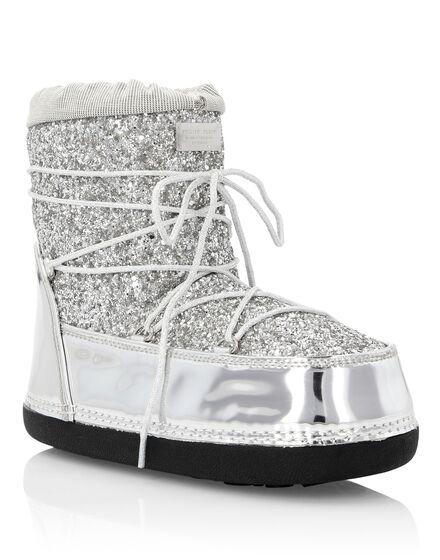 Boots Mid Flat Crystal