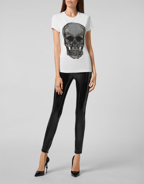 T-shirt Round Neck SS Classic Skull strass