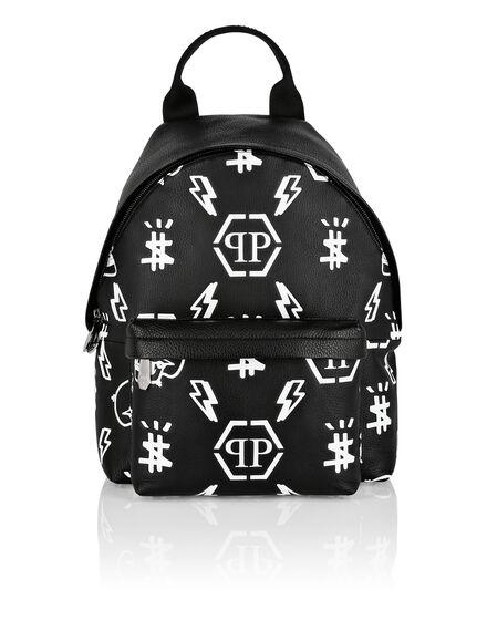 Leather Backpack print Monogram