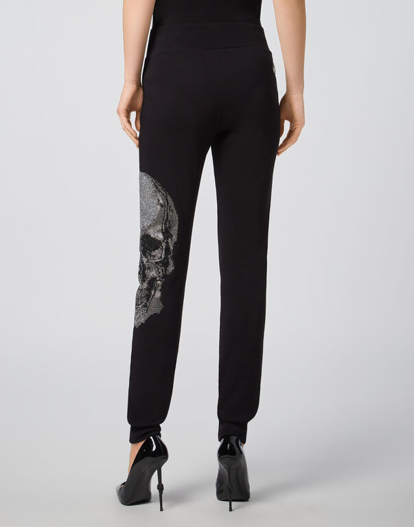 Jogging Trousers Classic Skull strass