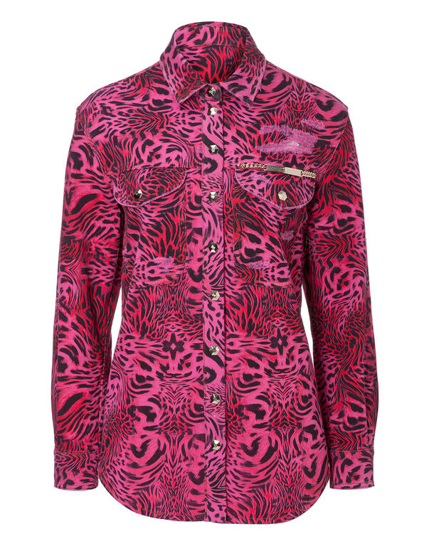 Denim Shirt Ls Pink paradise