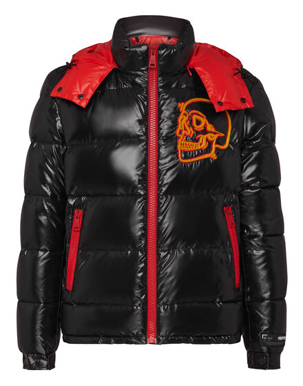 Nylon Jacket  Outline Skull