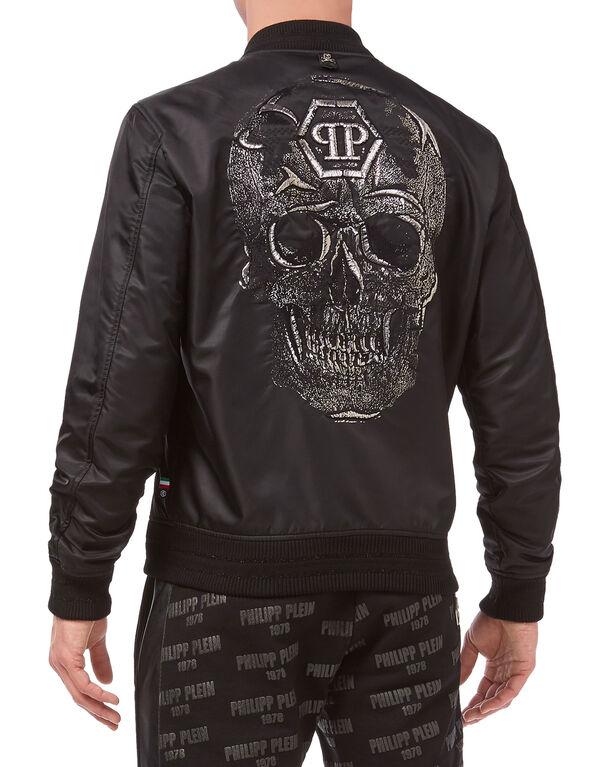 "Nylon Jacket ""Silver skull"""