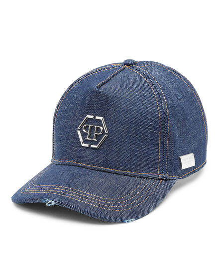 Denim Baseball Cap Hexagon