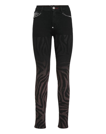High Waist Jegging Zebra