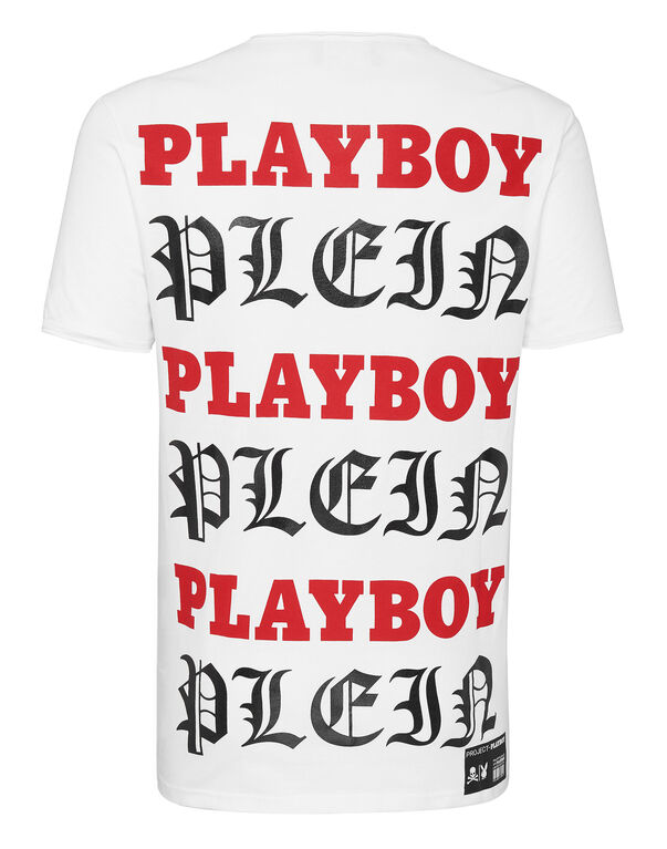 T-shirt Platinum Cut Round Neck Playboy