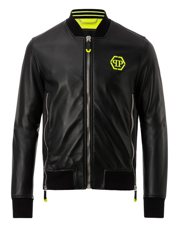 "Leather Bomber ""Serge"""