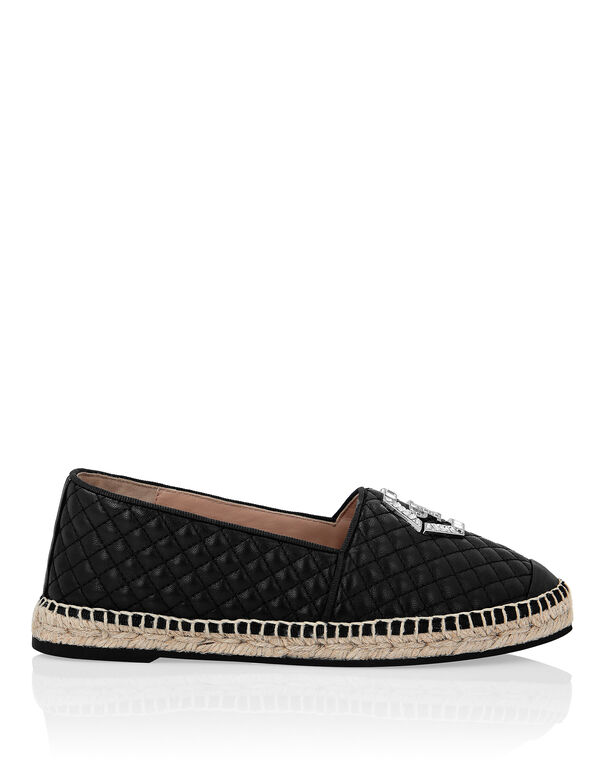 Leather matelassè Espadrillas Hexagon