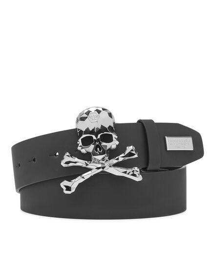 Rubber Leather Belt Skull
