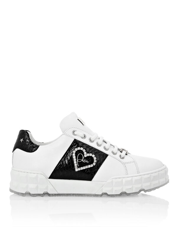 Lo-Top Sneakers elaphe and Love Plein