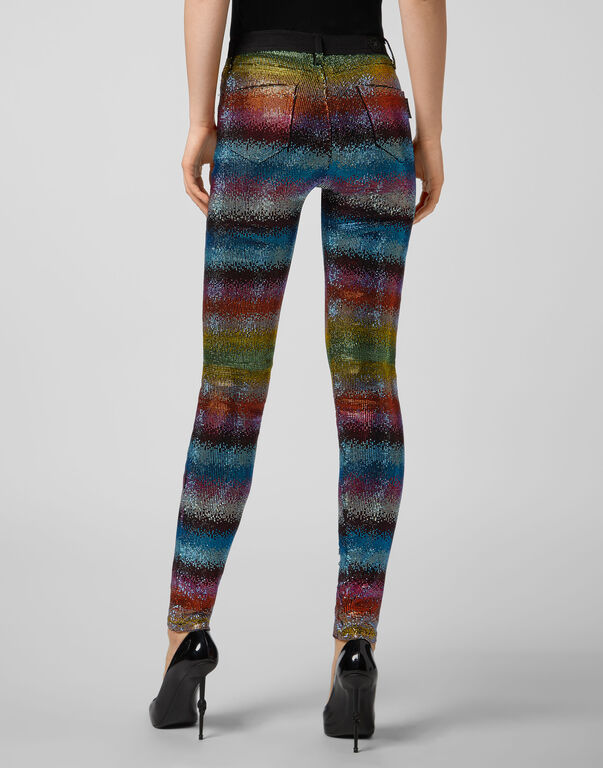 High Waist Jegging Raindbow Crystal