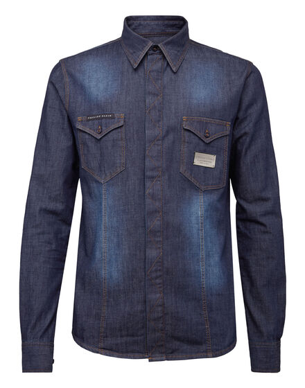 Denim Shirt Ls Sign