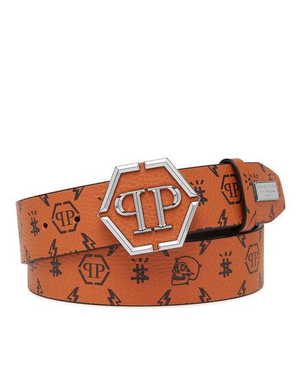 Leather Belt Monogram