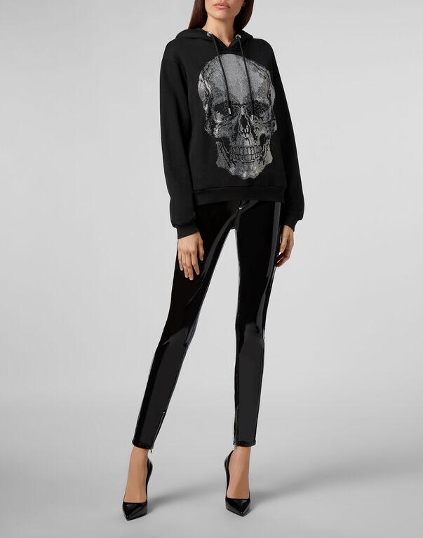 Hoodie sweatshirt Classic Skull strass