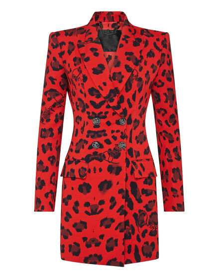 Blazer Dress Leopard