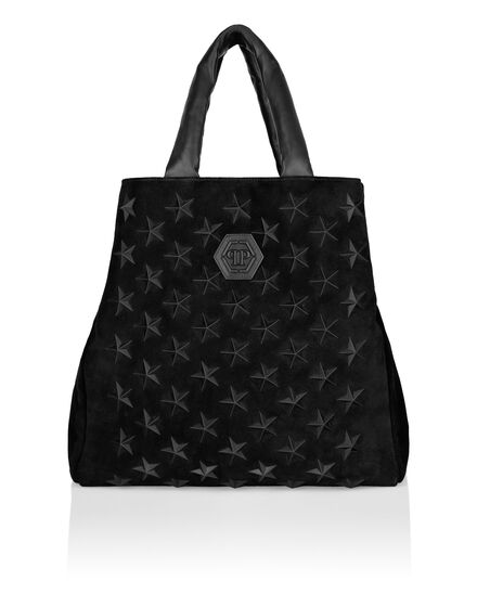 Suede Handle bag Stars