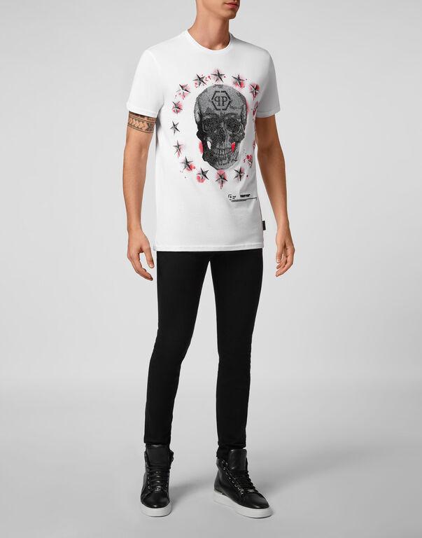 T-shirt Round Neck SS Stars and skull
