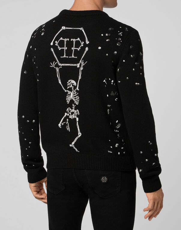 Pullover Round Neck LS Skeleton