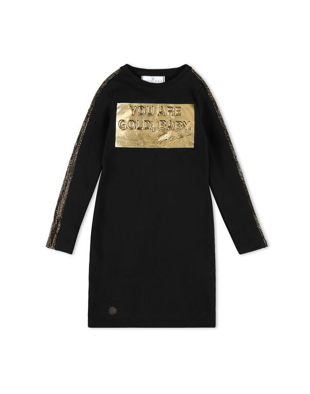 Jogging Day Dress Gold
