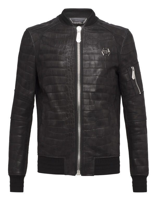 "Leather Bomber ""Back Crock"""