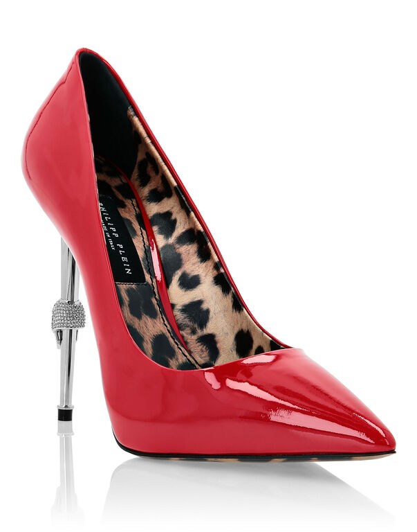 Patent Leather Decollete Hi-Heels Skull