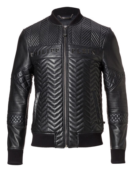 Leather Bomber Lenao
