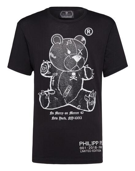 T-shirt Round Neck SS kimono Teddy Bear