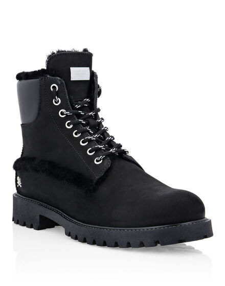 Leather Boots with shearling inside Iconic Plein