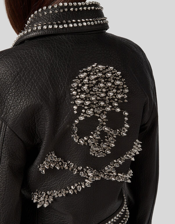 Leather Jacket Studs skull