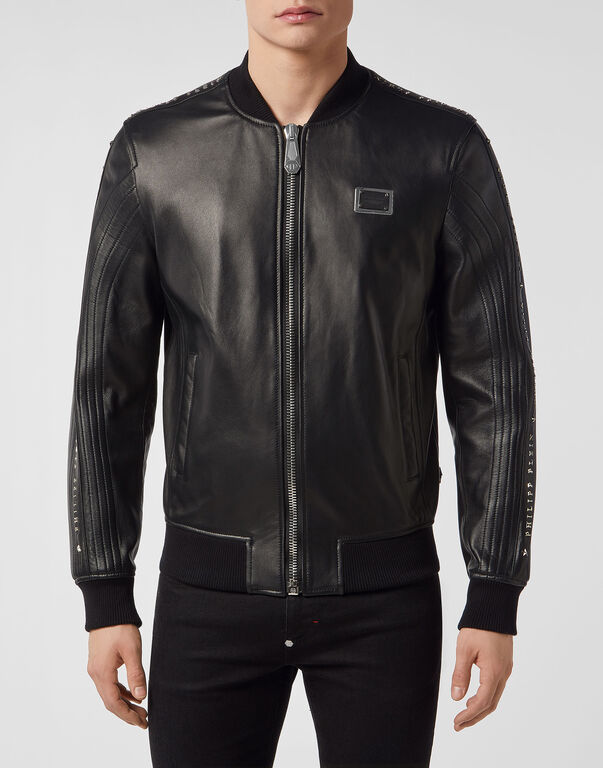 Leather Bomber Stars