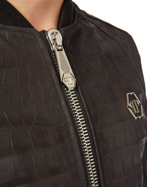 "Leather Bomber ""On Me"""