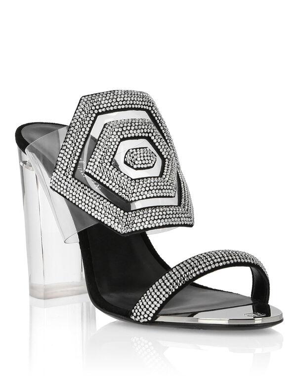 Sandals High Heels Crystal