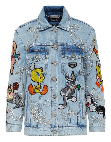 Denim Jacket Oversize Looney Tunes