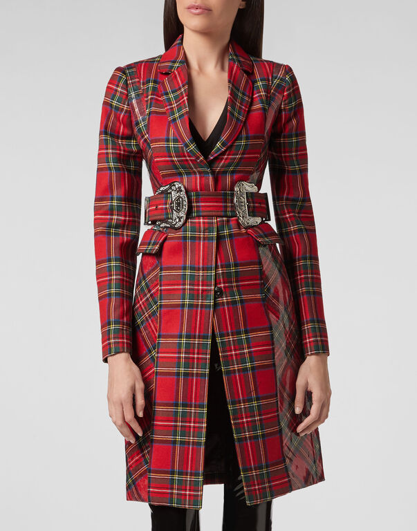 Coat Long Tartan