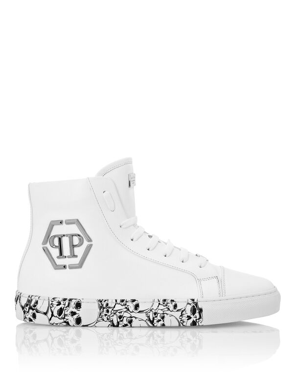 Hi-Top Sneakers hexagon and Skull