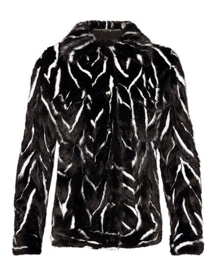 Fur Jacket Black Soul