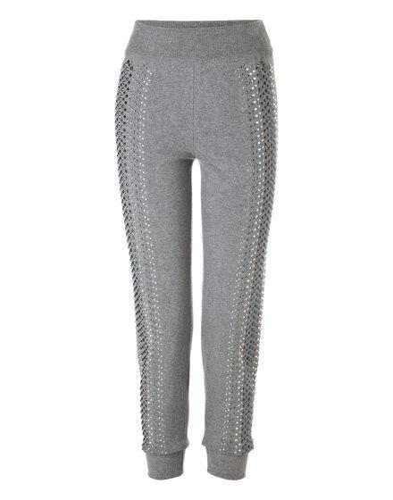 Knit Jogging Trousers Kelly Skull