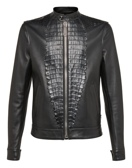Leather Bomber Shield