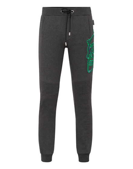 Jogging Trousers Outline Skull