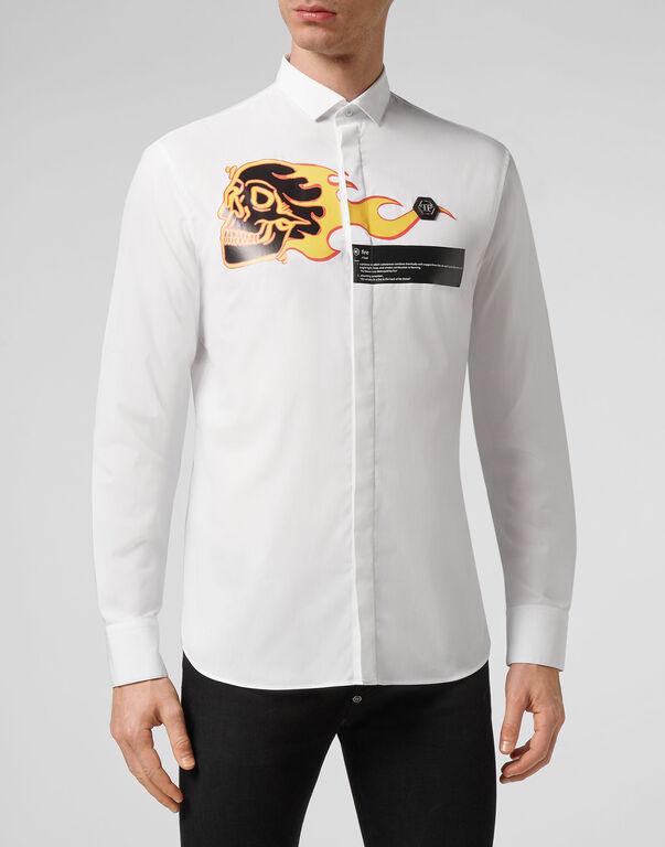 Shirt Skull on fire