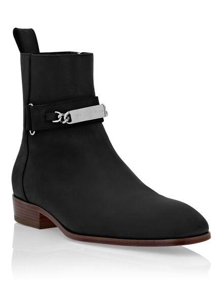 Nabuk Boots Low Flat